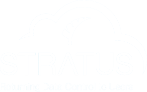 STRATUS logo in white